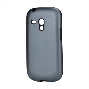 Aluminum Silicone Hybrid Case for Samsung Galaxy S III / 3 Mini I8190 - Grey