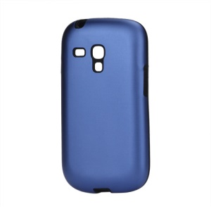 Aluminum Silicone Hybrid Case for Samsung Galaxy S III / 3 Mini I8190 - Dark Blue