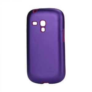 Aluminum Silicone Hybrid Case for Samsung Galaxy S III / 3 Mini I8190 - Purple
