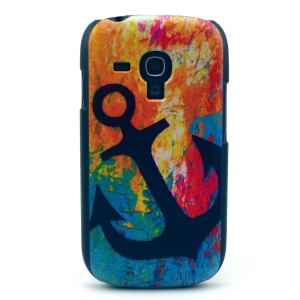 Anchor in Colorized Background Hard Case Cover for Samsung Galaxy S3 Mini i8190