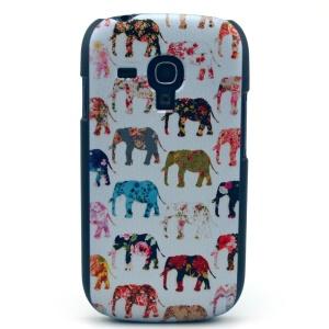 Colorized Elephants Hard Case Accessory for Samsung Galaxy S3 Mini i8190