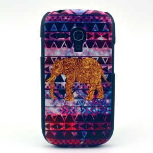 Elephant Geometric Pattern Hard Shell Cover for Samsung Galaxy S3 Mini i8190