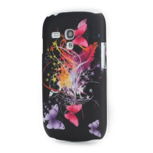 Colorful Ribbon and Butterflies Back Case Cover for Samsung i8190 Galaxy S3 Mini