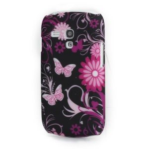 Butterflies and Floral Plastic Case Shell for Samsung Galaxy S III Mini i8190