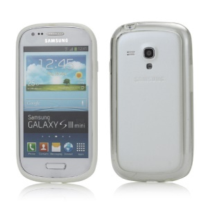Plastic TPU Hybrid Bumper Frame Case for Samsung Galaxy S3 Mini i8190 - White