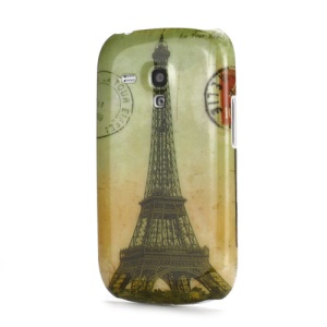 Eiffel Tower Design Plastic Case Cover for Samsung i8190 Galaxy S3 III Mini