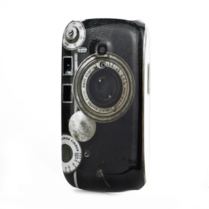 Camera Design Plastic Case for Samsung i8190 Galaxy S III / 3 Mini