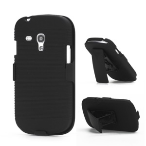 Slide Case with Belt Clip Swivel Holster Stand for Samsung i8190 Galaxy S3 III Mini
