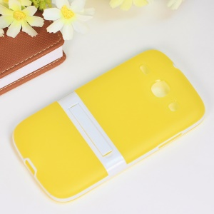 Kickstand Hybrid Matte TPU + PC Cover for Samsung Galaxy Core I8260 I8262 - Yellow