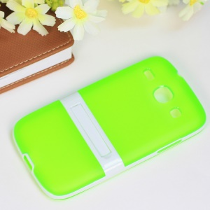 Kickstand Hybrid Matte TPU + PC Combo Case for Samsung Galaxy Core I8260 I8262 - Green