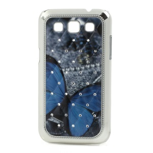 Blue Butterfly Diamond Plating Cover for Samsung Galaxy Win I8552 I8550