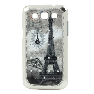For Samsung Galaxy Win I8552 Postcard Eiffel Tower Bling Diamond Hard Case