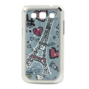 Hearts & Eiffel Tower for Samsung Galaxy Win I8552 Diamond Plated Case