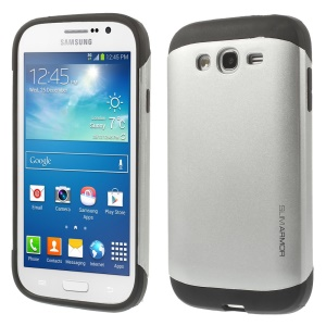 PC + TPU Impact-resistant Hard Shell for Samsung Galaxy Grand Lite I9060 I9062 - Silver