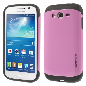 For Samsung Galaxy Grand Neo I9060 I9062 PC + TPU Impact-resistant Hard Cover - Pink