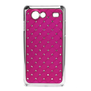 Starry Sky Rhinestone Electroplating Hard Skin Case for Samsung I9070 Galaxy S Advance - Rose