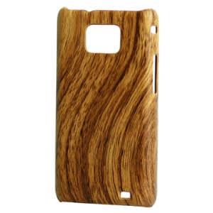 Unique Wood Grain Hard Plastic Case Cover for Samsung i9100 Galaxy S 2