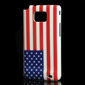 Samsung i9100 Galaxy S 2 Hard Plastic Shell with the Stars and the Stripes Pattern