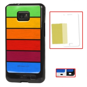 Samsung i9100 Galaxy S2 / II Rainbow TPU Case (Screen Protector Included)