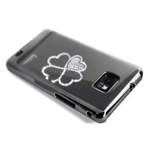 Eileen Clover Lime Series Swarovski Case for Samsung I9100 Galaxy S2 / Il - Shadow Black