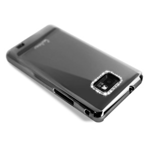 Eileen Metal Ring Series Diamond Case for Samsung I9100 Galaxy S2 / II - Shadow Black