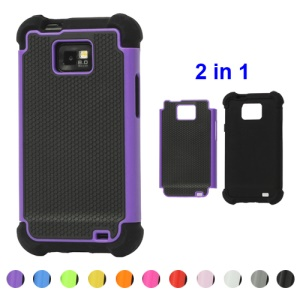 Silicone and Plastic Hybrid Case for Samsung Galaxy S2 / II I9100