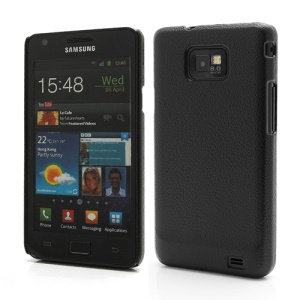 Leather Skin Textured Plastic Case Shell for Samsung Galaxy S 2 / II I9100