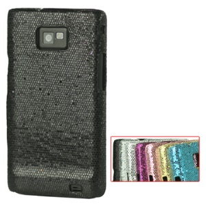 Glaring Flashlight Powder Skin Hard Plastic Cover for Samsung i9100 Galaxy S 2
