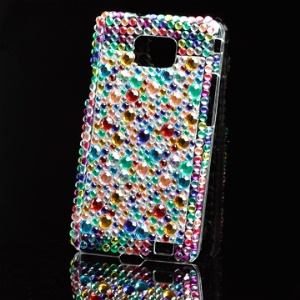 Colorized Rhinestone Bling Hard Case for Samsung i9100 Galaxy S 2