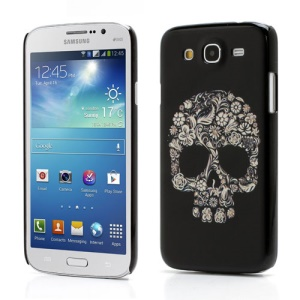 Skull Head Matte Plastic Hard Back Case for Samsung Galaxy Mega 5.8 I9150 I9152