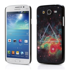 You and Me Colorful Pattern Hard Protector Case for Samsung Galaxy Mega 5.8 I9150 I9152