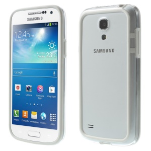 Backless PC + TPU Hybrid Bumper Frame for Samsung Galaxy S4 mini I9195 I9192 I9190 - White