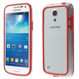 Backless PC + TPU Hybrid Frame Bumper for Samsung Galaxy S4 mini I9195 I9192 I9190 - Red