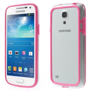 Backless PC + TPU Hybrid Frame Case for Samsung Galaxy S4 mini I9195 I9192 I9190 - Rose