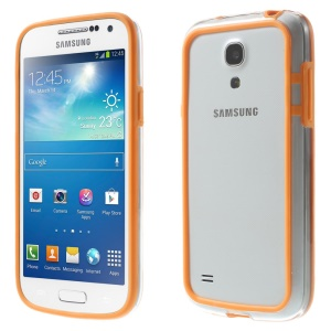 Backless PC + TPU Hybrid Bumper Case for Samsung Galaxy S4 mini I9195 I9192 I9190 - Orange