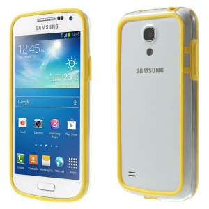 Backless PC + TPU Combo Bumper Case for Samsung Galaxy S4 mini I9195 I9192 I9190 - Yellow
