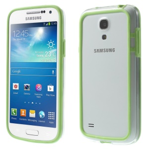 Backless PC + TPU Combo Bumper Frame for Samsung Galaxy S4 mini I9195 I9192 I9190 - Green