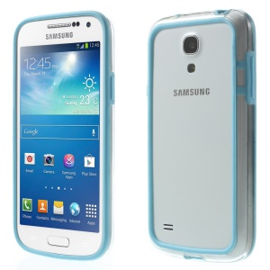 Backless PC + TPU Combo Frame for Samsung Galaxy S4 mini I9195 I9192 I9190 - Baby Blue