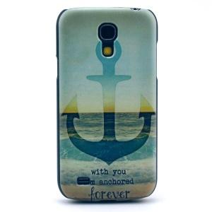 Anchor & Sea & Quote Hard Case Cover for Samsung Galaxy S4 mini I9195 I9192 I9190