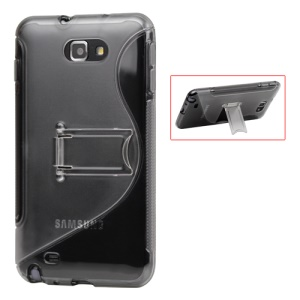 S Type Crystal Case with Stand for Samsung Galaxy Note I9220 GT-N7000 I717