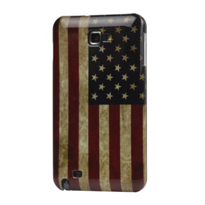 Retro American US Flag Hard Case for Samsung Galaxy Note I9220 GT-N7000 I717