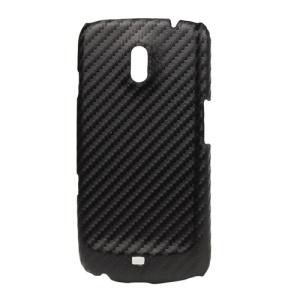 Carbon Fiber Hard Case for Samsung Galaxy Nexus I9250 / I515;Red