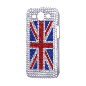 Union Jack Flag Rhinestone Case for Samsung Galaxy S 3 / III I9300 I747 L710 T999 I535 R530