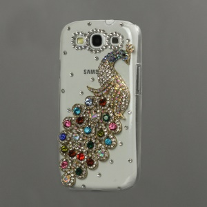 Luxury Peacock Diamond Crystal Case for Samsung Galaxy S 3 / III I9300 I747 L710 T999 I535 R530 - Colorful