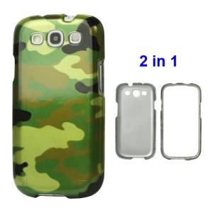 Detachable Camouflage Hard Plastic Case for Samsung Galaxy S 3 / III I9300 I747 L710 T999 I535 R530