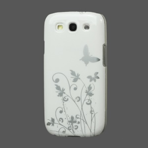 Butterfly Flowers Hard Case for Samsung Galaxy S 3 / III I9300 I747 L710 T999 I535 R530 - White