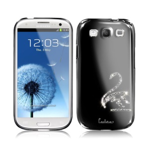 Eileen Swan Diamante Case for Samsung Galaxy S 3 / III I9300 I747 L710 T999 I535 R530 - Shadow Black