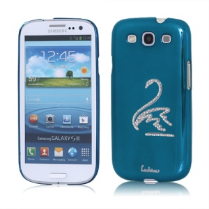 Eileen Swan Diamante Case for Samsung Galaxy S 3 / III I9300 I747 L710 T999 I535 R530 - Capri Blue