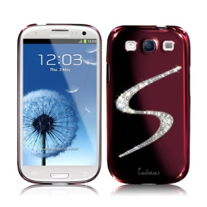 Eileen S-Lime Series Samsung Galaxy S 3 / III I9300 I747 L710 T999 I535 R530 Swarovski Case - Wine Red