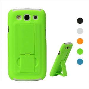 Rubberized Hard Stand Case for Samsung Galaxy S 3 / III I9300 I747 L710 T999 I535 R530